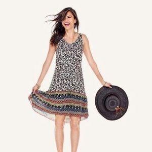 CAbi Leopard Print Safari Dress Style #5115 Small